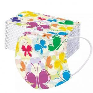 mondmaskers met vlinders